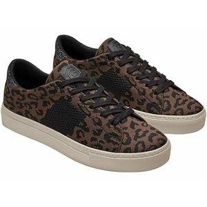 GREATS Women's Brown Leopard Royale Knit Sneakers
